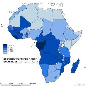 carte de l'Afrique avec statistiques